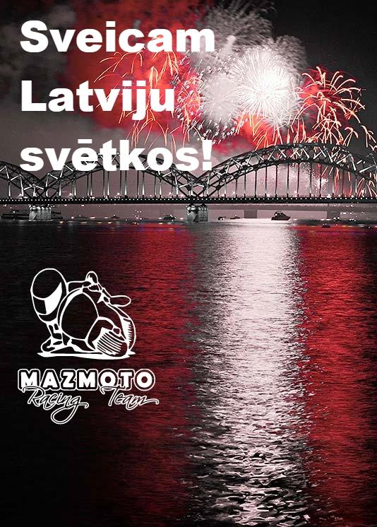 Daudz laimes Latvija!